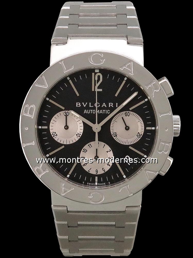 detailed look 61210 ff8a6 Bulgari Bvlgari-Bvlgari Chronographe réf.BB38SS CH occasion ...
