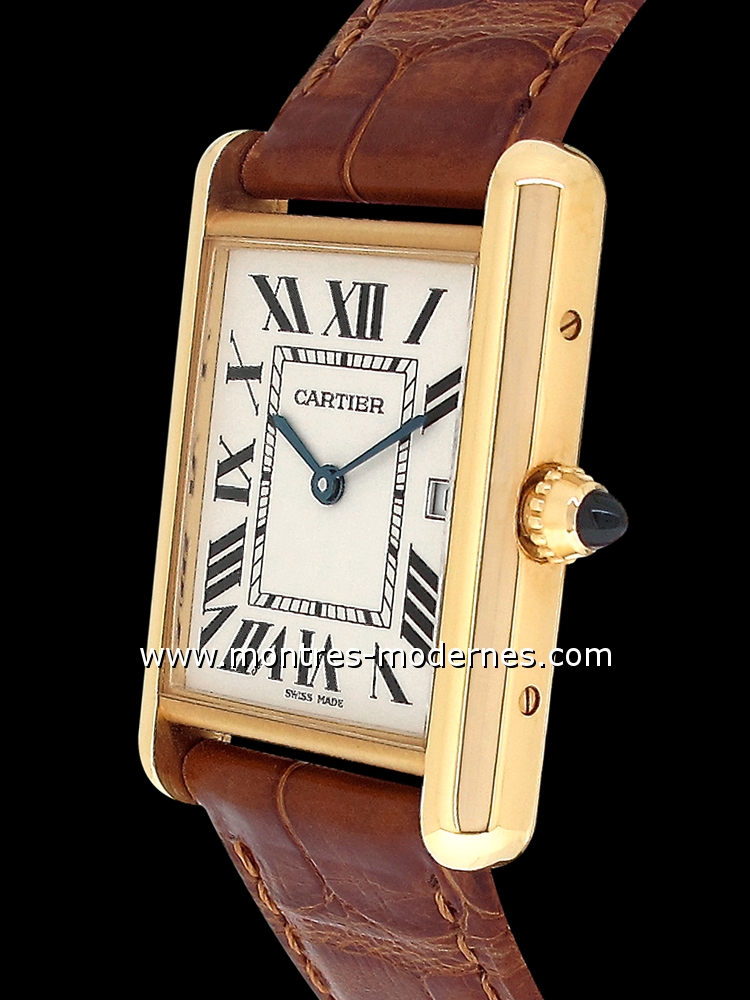 photos de montres cartier tank louis cartier mmc montres tank louis cartier cartier. Black Bedroom Furniture Sets. Home Design Ideas