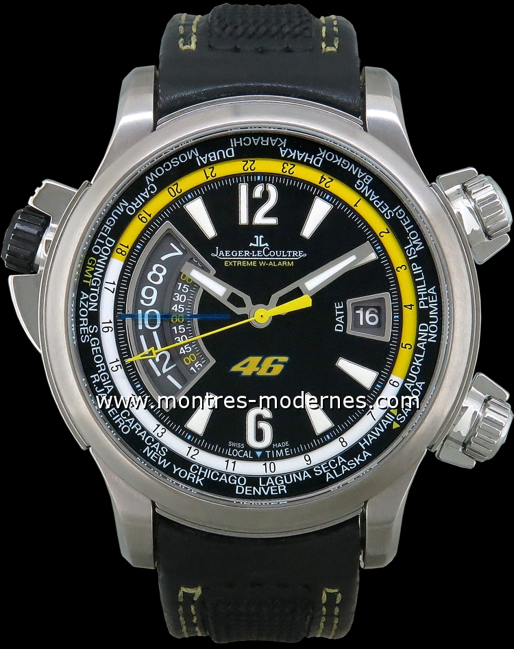 jaeger lecoultre master compressor extreme w alarm valentino rossi occasion mmc num 8445. Black Bedroom Furniture Sets. Home Design Ideas
