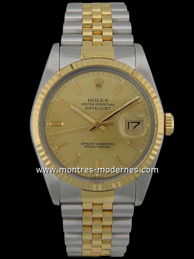 datejust plexi jubilee band gold steel occasion. Black Bedroom Furniture Sets. Home Design Ideas